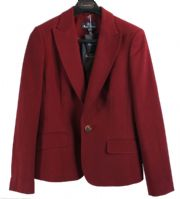 "Aquascutum Ladies Dk Red Needlecord Tailored ""Freya"" Jacket Blazer Uk10 *BNWT*"
